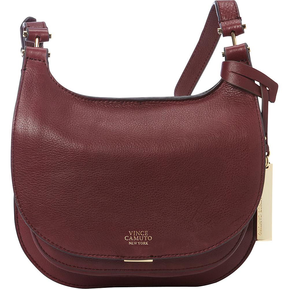 Vince Camuto Elyza Small Crossbody Wine Vince Camuto Designer Handbags
