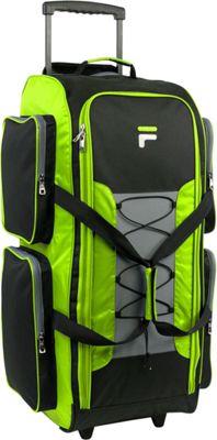 Fila 32 inch Lightweight Rolling Duffel Bag Neon Lime - Fila Rolling Duffels