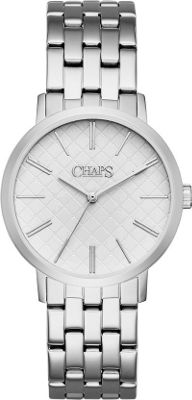 Chaps Whitney Stainless-Steel Three-Hand Watch Silver - Chaps Watches