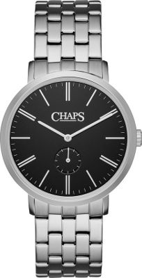 Chaps Dunham Stainless-Steel Two-Hand Watch Silver - Chaps Watches