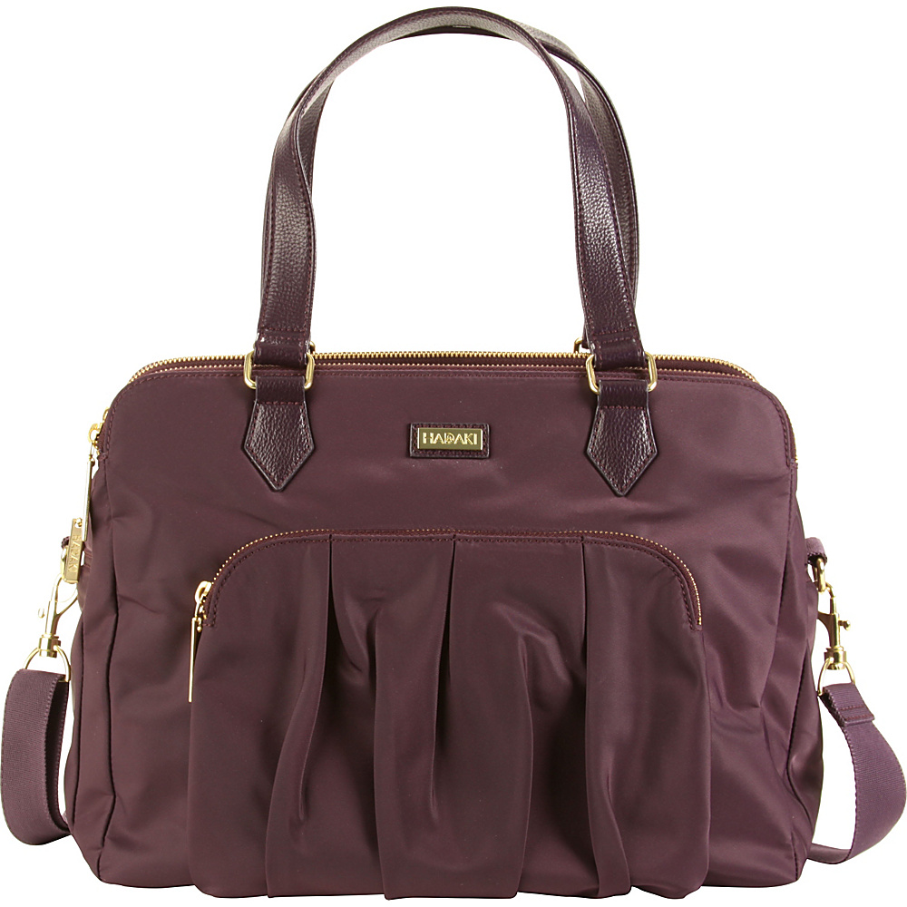 Hadaki The Ave Sac Plum Perfect Solid - Hadaki Fabric Handbags - Handbags, Fabric Handbags