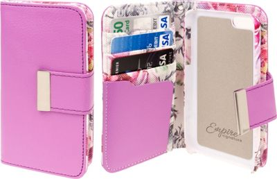 EMPIRE KLIX Klutch Designer Wallet Cases for Apple iPhone 5C Pink Faded Flowers - EMPIRE Electronic Cases
