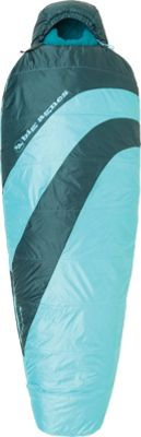 Big Agnes Blue Lake 25 Synthetic Sleeping Bag Turquoise/Pine - Petite Right - Big Agnes Outdoor Accessories