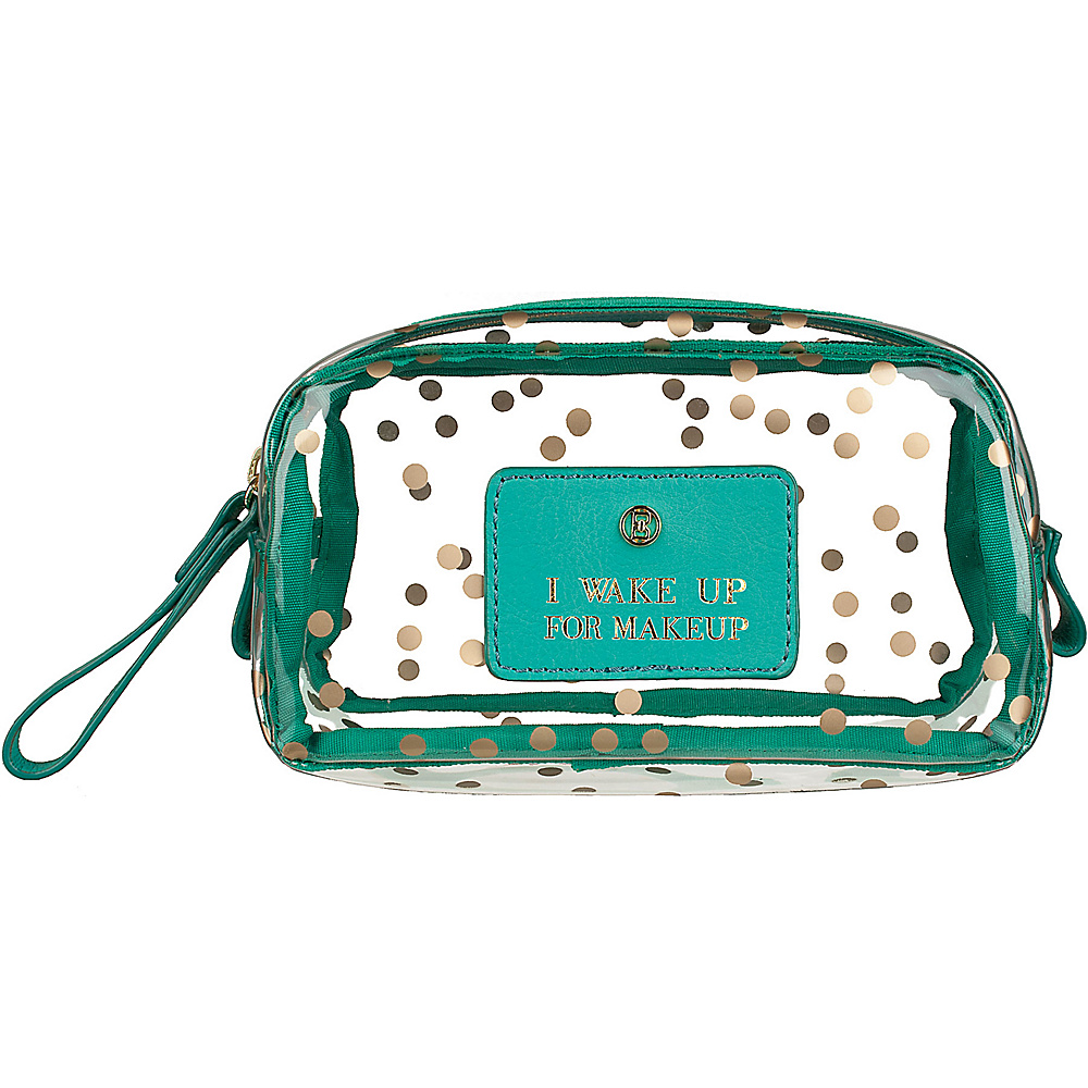 Boulevard I Wake Up for Makeup Gumdrop Glass Bag Confetti with Mint Leather - Boulevard Women's SLG Other