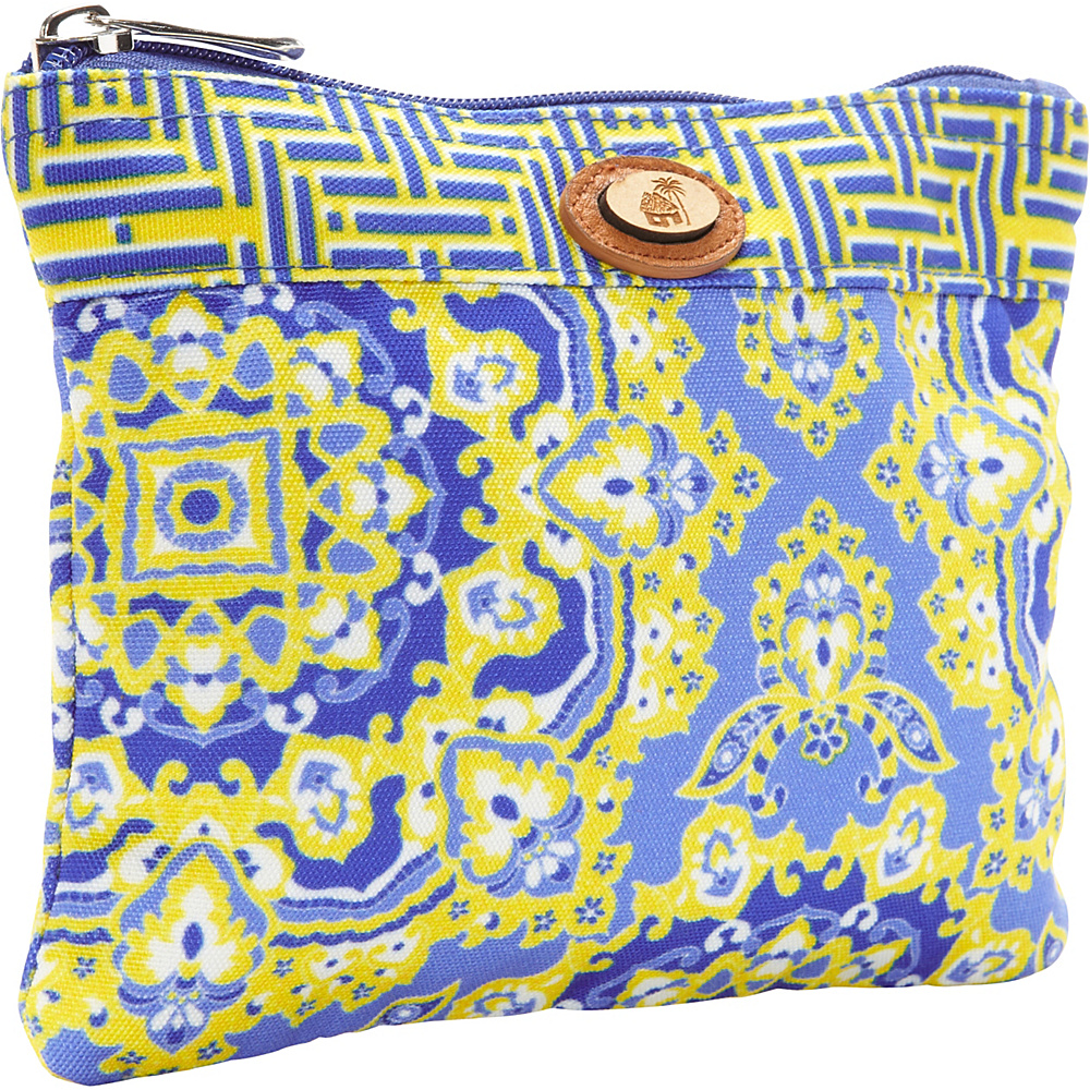 Caribbean Joe Accessories Sundial Paisley Toiletry Kit Yellow - Caribbean Joe Accessories Toiletry Kits