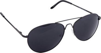 POP Fashionwear Classic Metal Large Aviator Sunglasses Black/Smoke Lens - POP Fashionwear Sunglasses