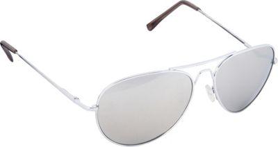 POP Fashionwear Classic Metal Large Aviator Sunglasses Silver/Mirror Lens - POP Fashionwear Sunglasses