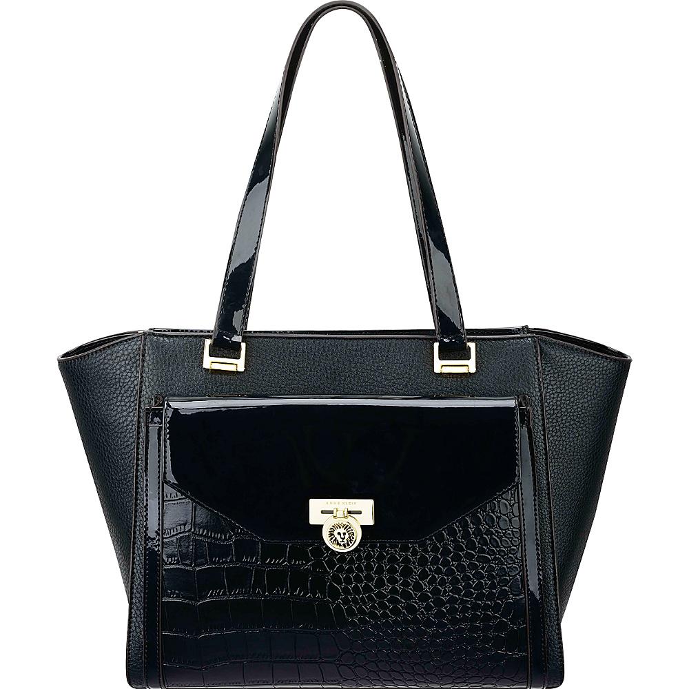 Anne Klein Hidden Treasure Satchel Black - Anne Klein Manmade Handbags