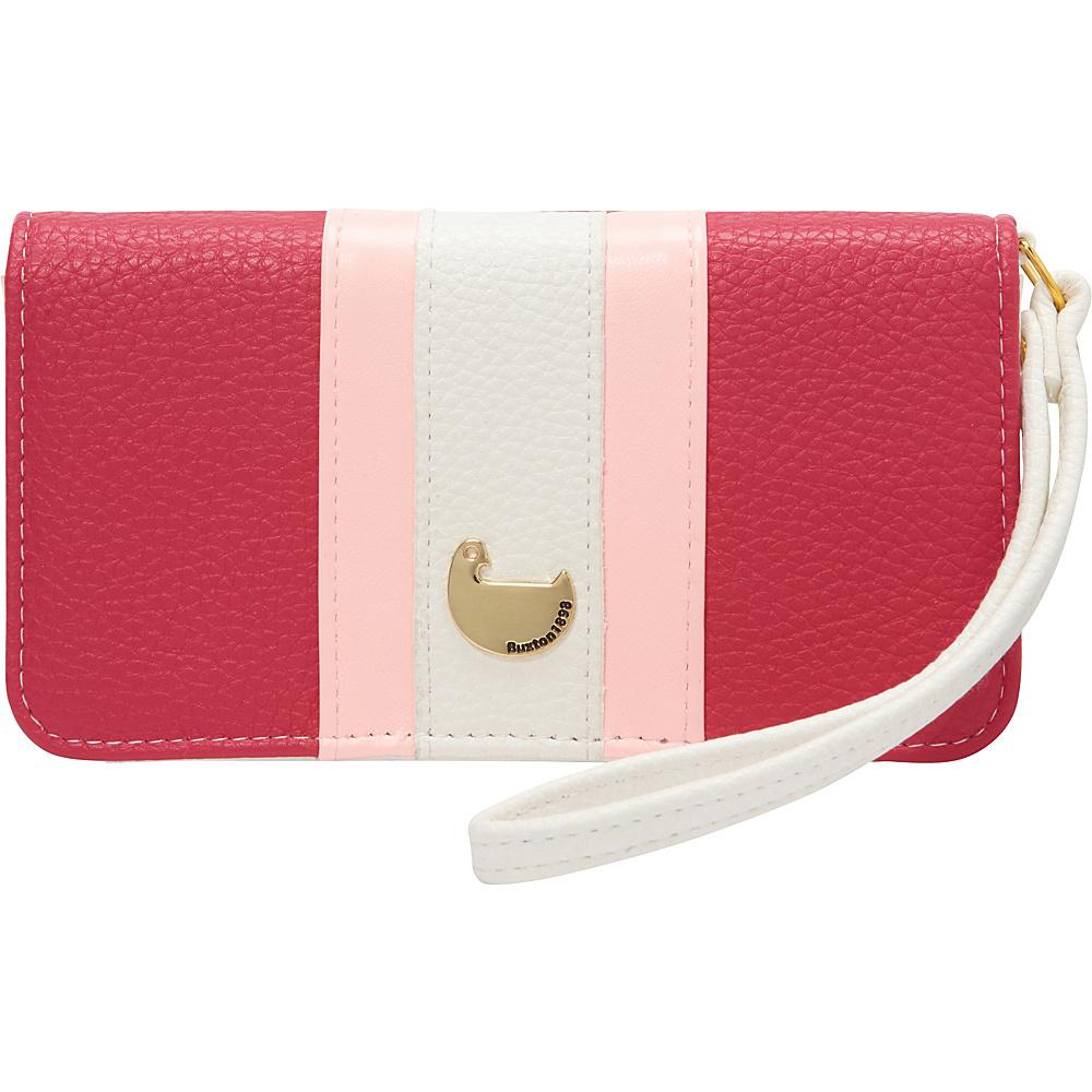 Buxton Prepster Cell Phone Wristlet Fuchsia Pink - Buxton Womens Wallets - Women's SLG, Women's Wallets