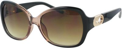 Bob Mackie Sunglasses Sunglasses with Metal Keyhole Gradient Crystal Brown and Gold - Bob Mackie Sunglasses Sunglasses
