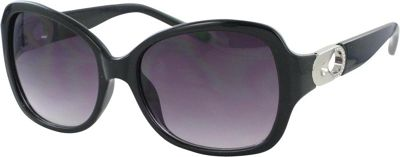 Bob Mackie Sunglasses Sunglasses with Metal Keyhole Black and Silver - Bob Mackie Sunglasses Sunglasses