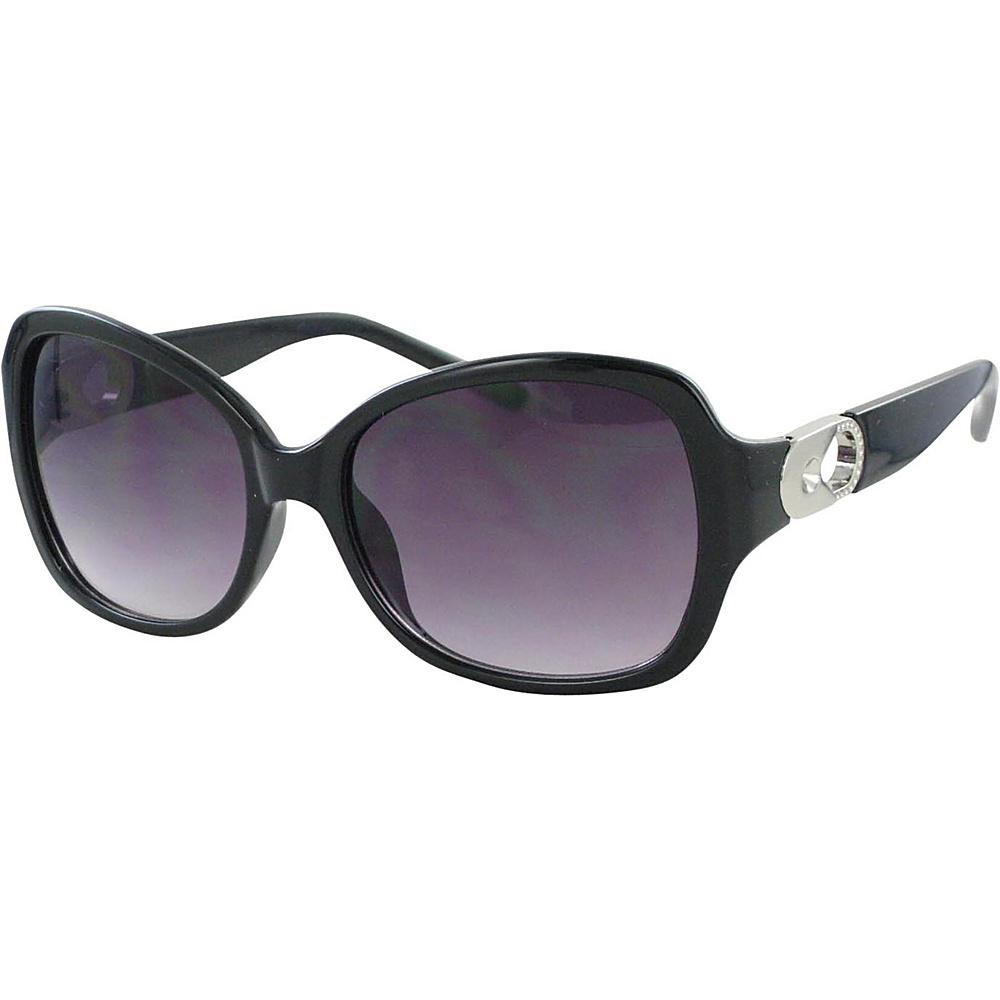 Bob Mackie Sunglasses Sunglasses with Metal Keyhole Black and Silver - Bob Mackie Sunglasses Sunglasses