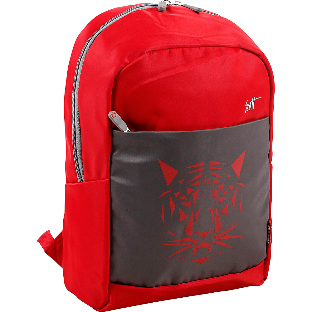 J World New York Scott Laptop Backpack Red - J World New York Business & Laptop Backpacks - Backpacks, Business & Laptop Backpacks