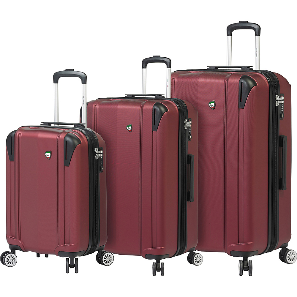 Mia Toro ITALY Navelli Luggage Set Burgundy Mia Toro ITALY Luggage Sets
