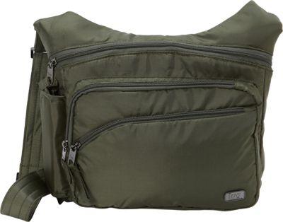 Lug RFID Sidekick Excursion Pouch Olive Green - Lug Fabric Handbags