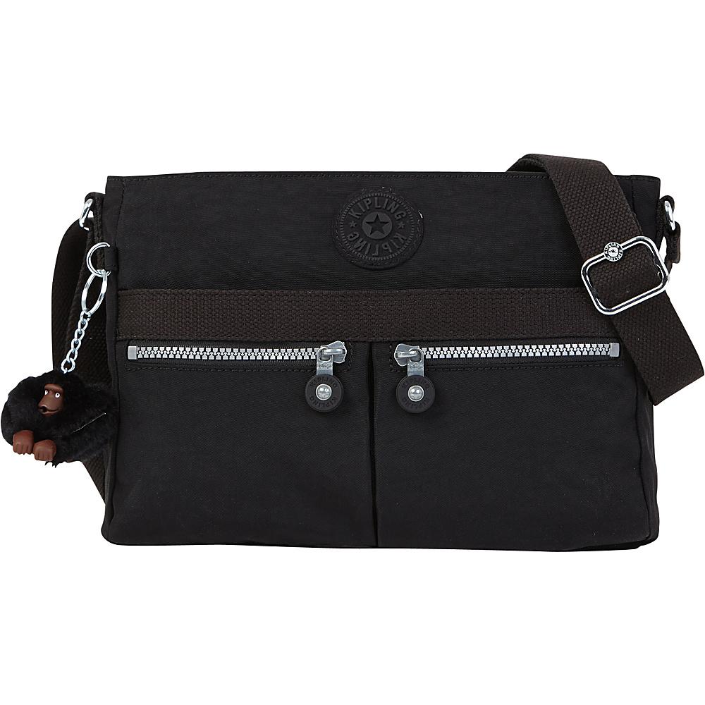 Kipling Angie Crossbody Black Kipling Fabric Handbags