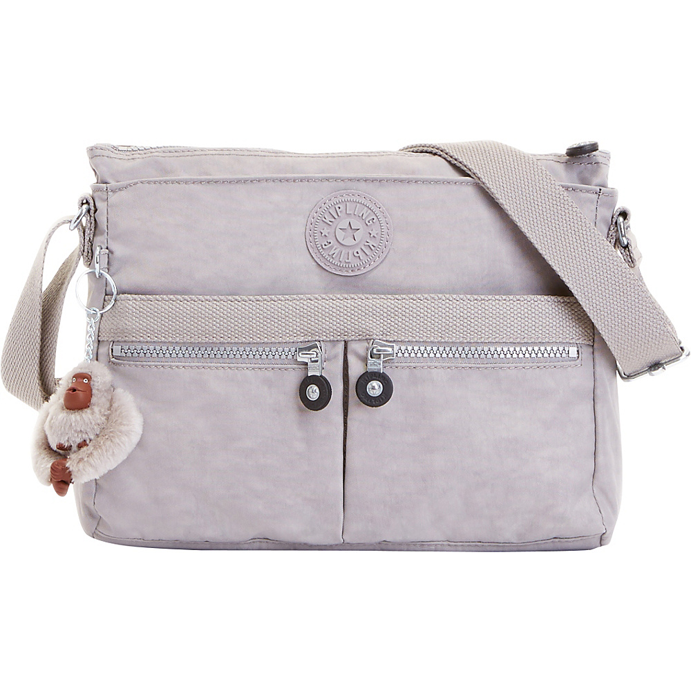 Kipling Angie Crossbody Slate Grey Kipling Fabric Handbags