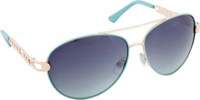 Rocawear Sunwear R566 Women's Sunglasses Gold Aqua - Rocawear Sunwear Sunglasses
