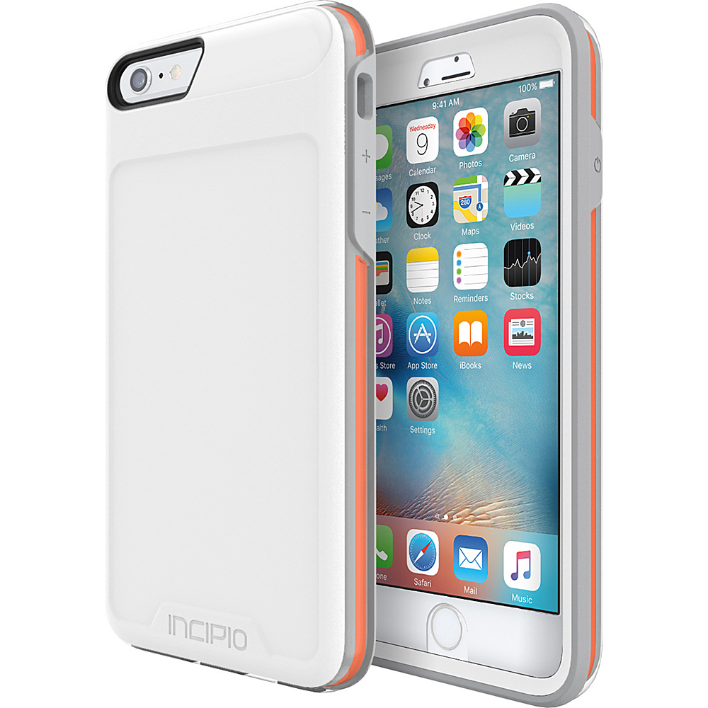 Incipio Performance Series Level 5 for iPhone 6 Plus / 6s Plus White/Orange - Incipio Electronic Cases - Technology, Electronic Cases