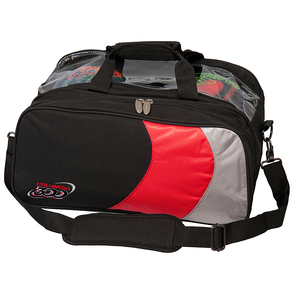 Columbia 300 Bags Columbia 300 Double Ball Tote Red Silver Black Columbia 300 Bags Bowling Bags