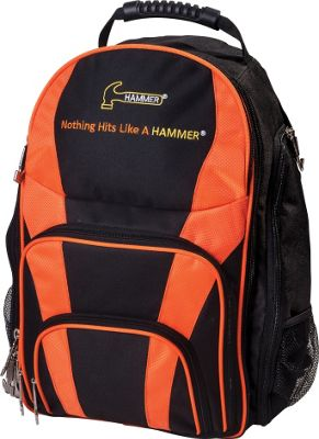 Hammer Hammer Tournament Backpack Black/Orange - Hammer Bowling Bags