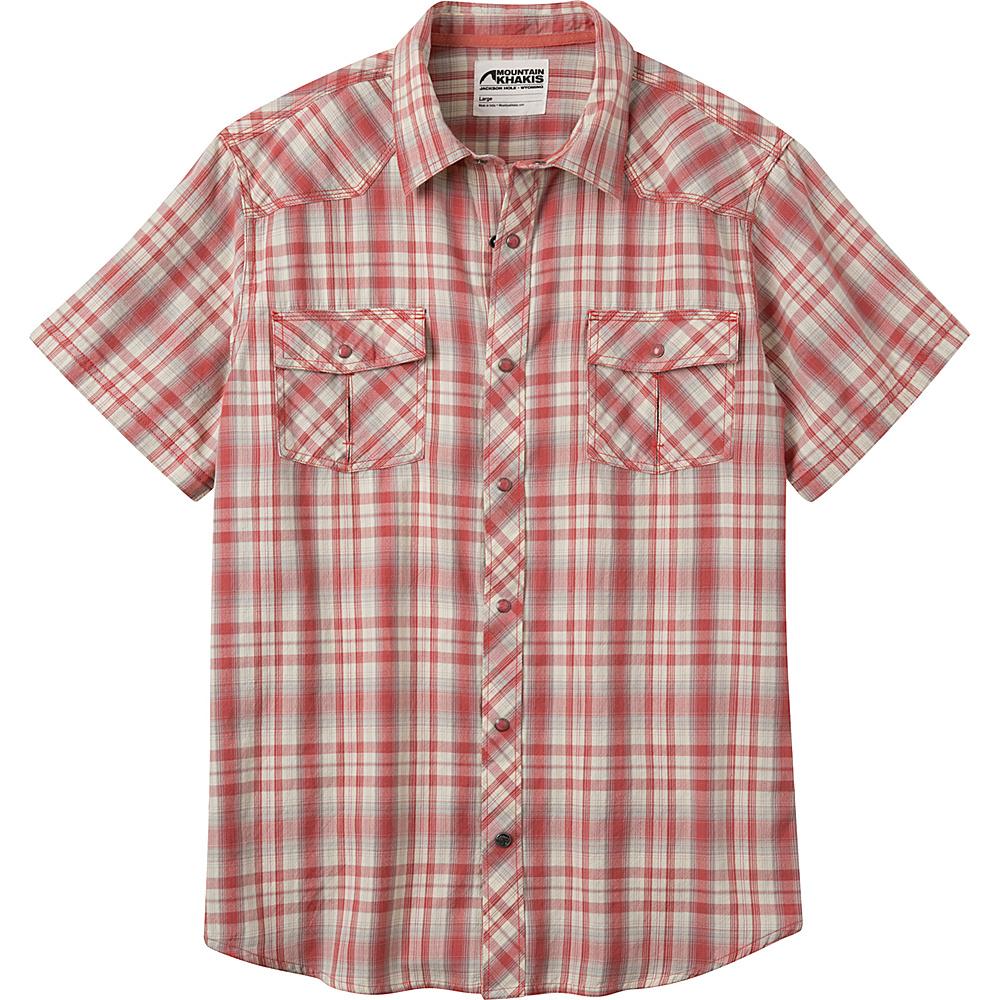 Mountain Khakis Rodeo Short Sleeve Shirt M - Rojo - Mountain Khakis Mens Apparel - Apparel & Footwear, Men's Apparel