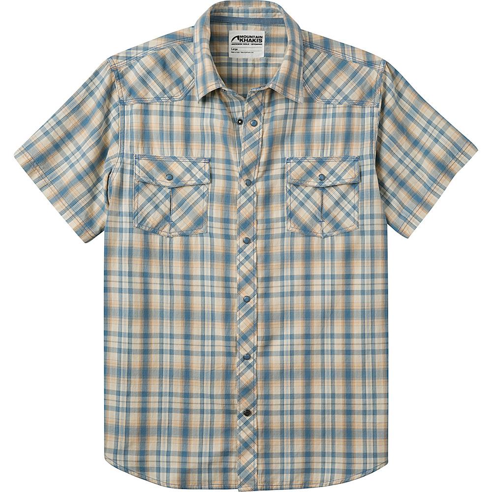 Mountain Khakis Rodeo Short Sleeve Shirt XL - Blue Ridge - Mountain Khakis Mens Apparel - Apparel & Footwear, Men's Apparel