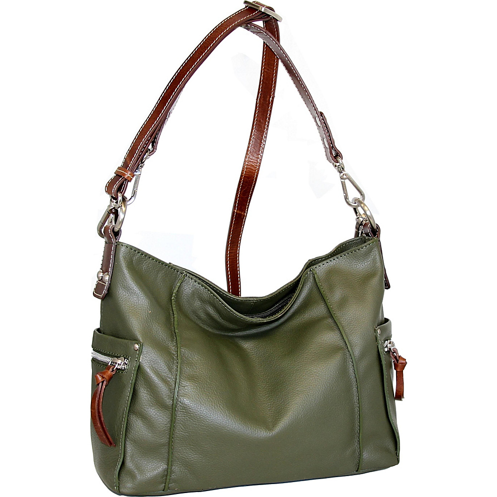 Nino Bossi Peggy Sue Crossbody Green - Nino Bossi Leather Handbags - Handbags, Leather Handbags