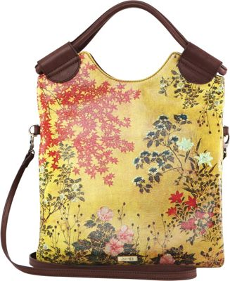 Icon Shoes Crossbody with Detachable Strap Japanese Screen - Icon Shoes Leather Handbags