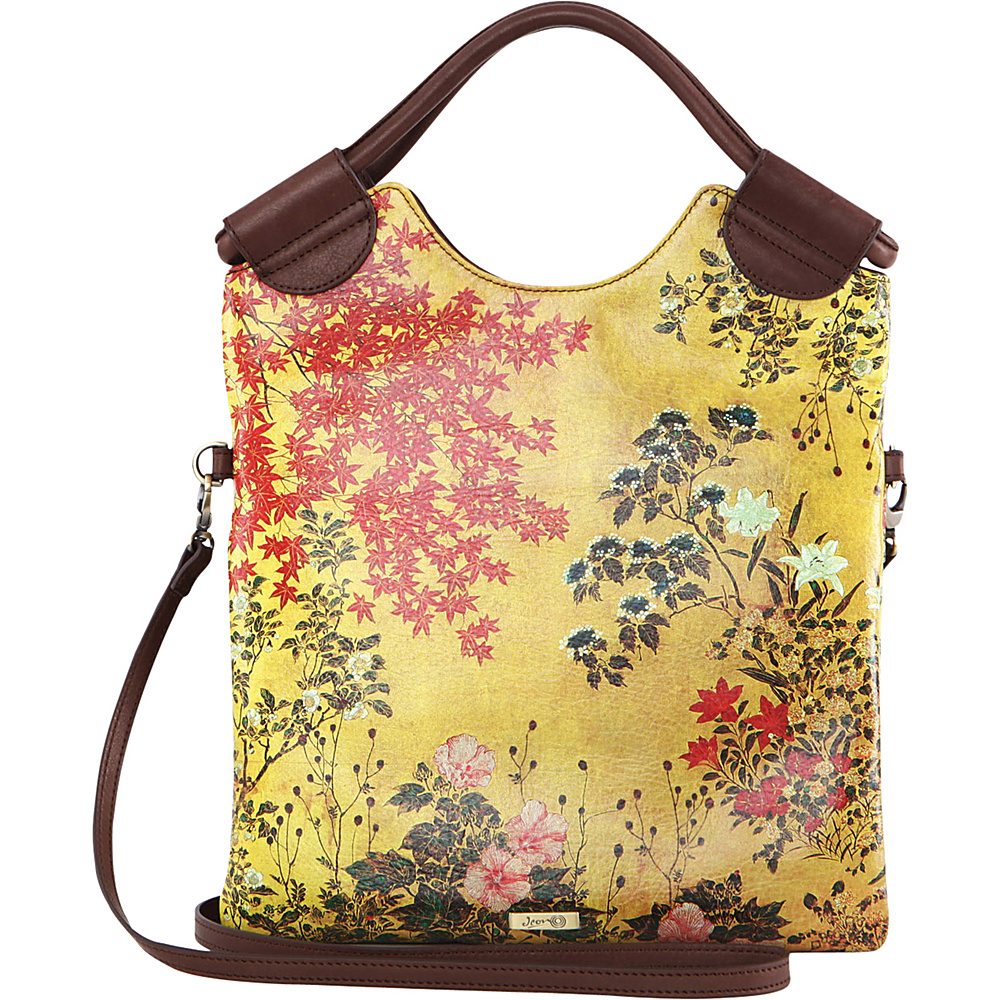 Icon Shoes Crossbody with Detachable Strap Japanese Screen Icon Shoes Leather Handbags