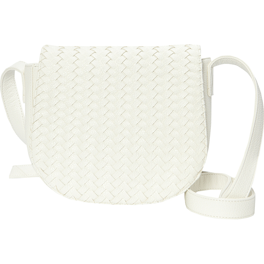 deux lux Crosby Saddle Bag White deux lux Manmade Handbags