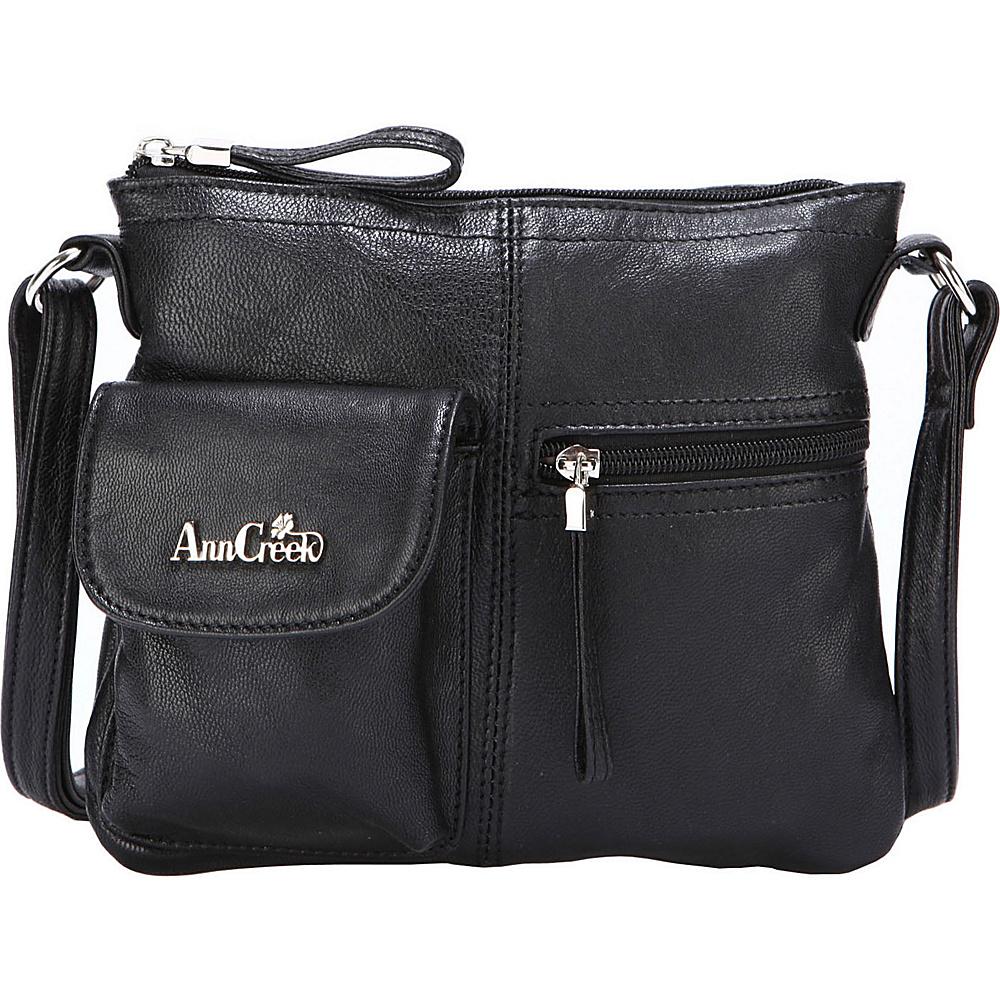 Ann Creek Women s Larchmont Leather Satchel Bag Black Ann Creek Leather Handbags
