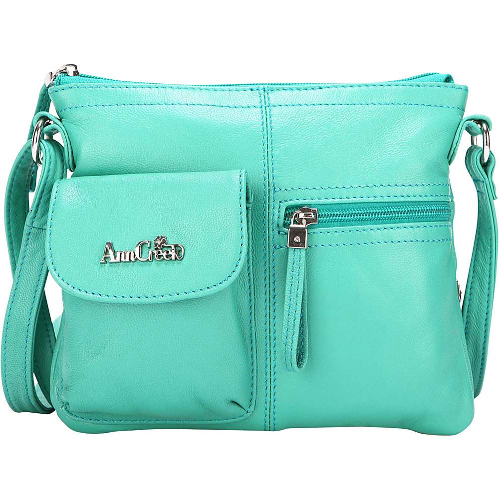 Ann Creek Women s Larchmont Leather Satchel Bag Light Blue Ann Creek Leather Handbags
