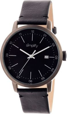 Simplify 2500 Unisex Watch Gunmetal/Black - Simplify Watches