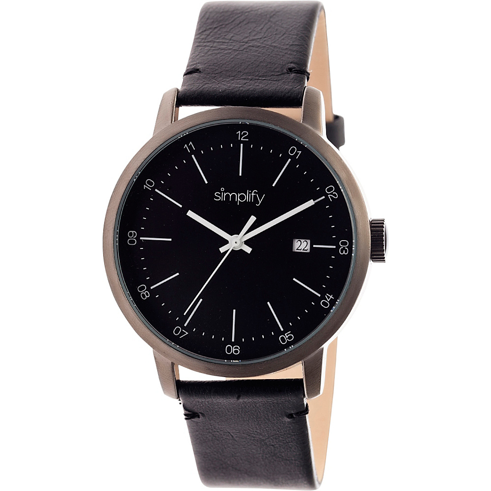 Simplify 2500 Unisex Watch Gunmetal Black Simplify Watches