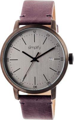 Simplify 2500 Unisex Watch Gunmetal/Silver - Simplify Watches