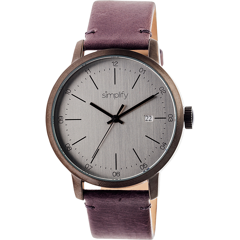 Simplify 2500 Unisex Watch Gunmetal Silver Simplify Watches