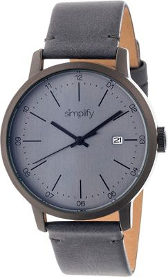 Simplify 2500 Unisex Watch Gunmetal/Charcoal - Simplify Watches