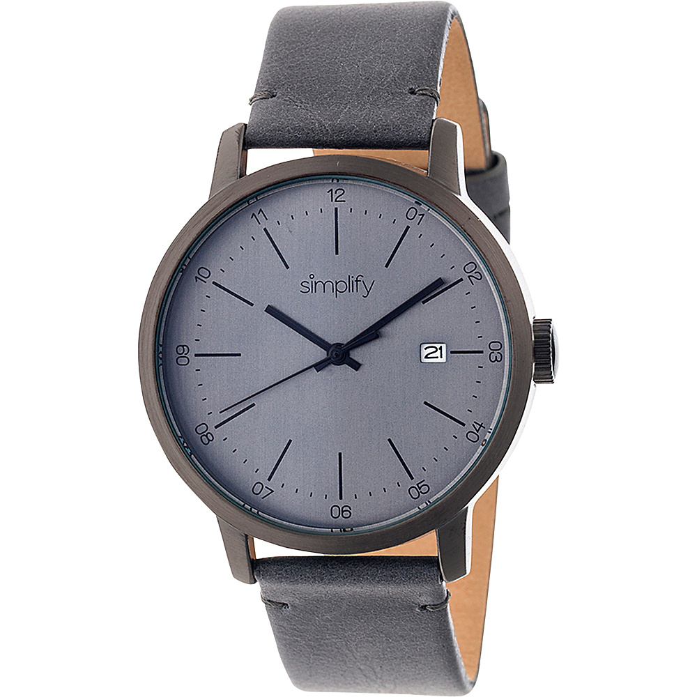 Simplify 2500 Unisex Watch Gunmetal Charcoal Simplify Watches