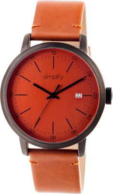 Simplify 2500 Unisex Watch Gunmetal/Orange - Simplify Watches