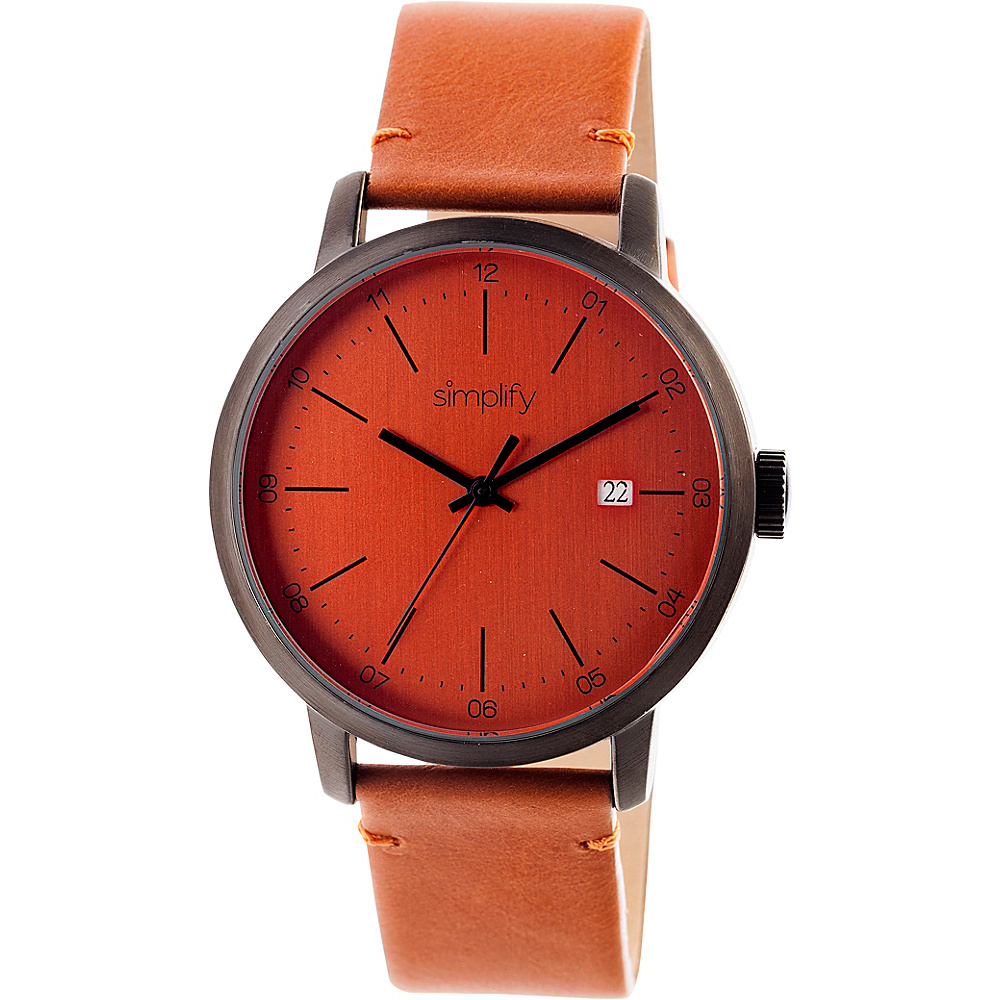 Simplify 2500 Unisex Watch Gunmetal Orange Simplify Watches