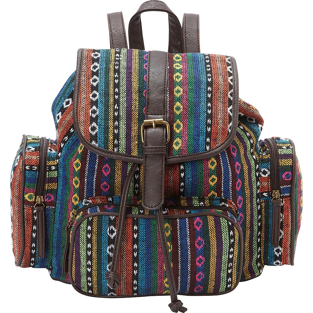 Ann Creek Women s Hetis Multi stripe Backpack Multi Ann Creek Fabric Handbags