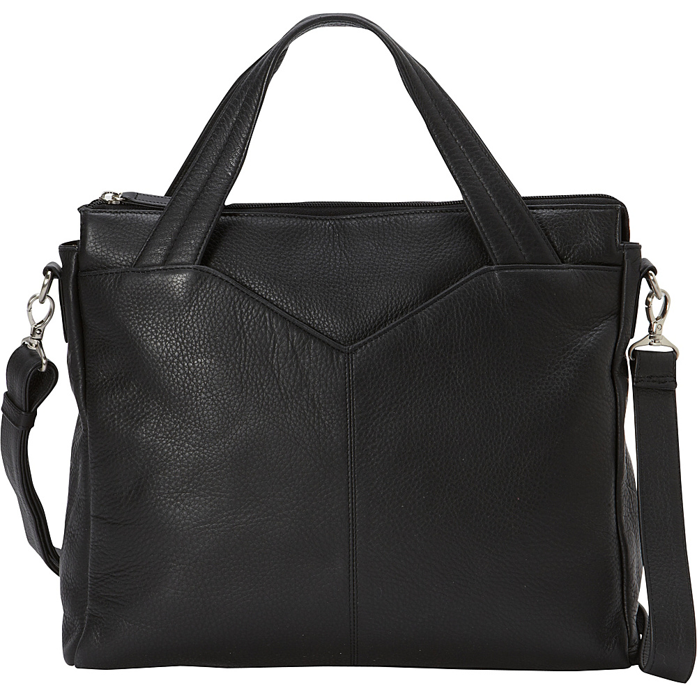 Derek Alexander Large Ladies Business Brief Tablet Friendly Black - Derek Alexander Leather Handbags - Handbags, Leather Handbags