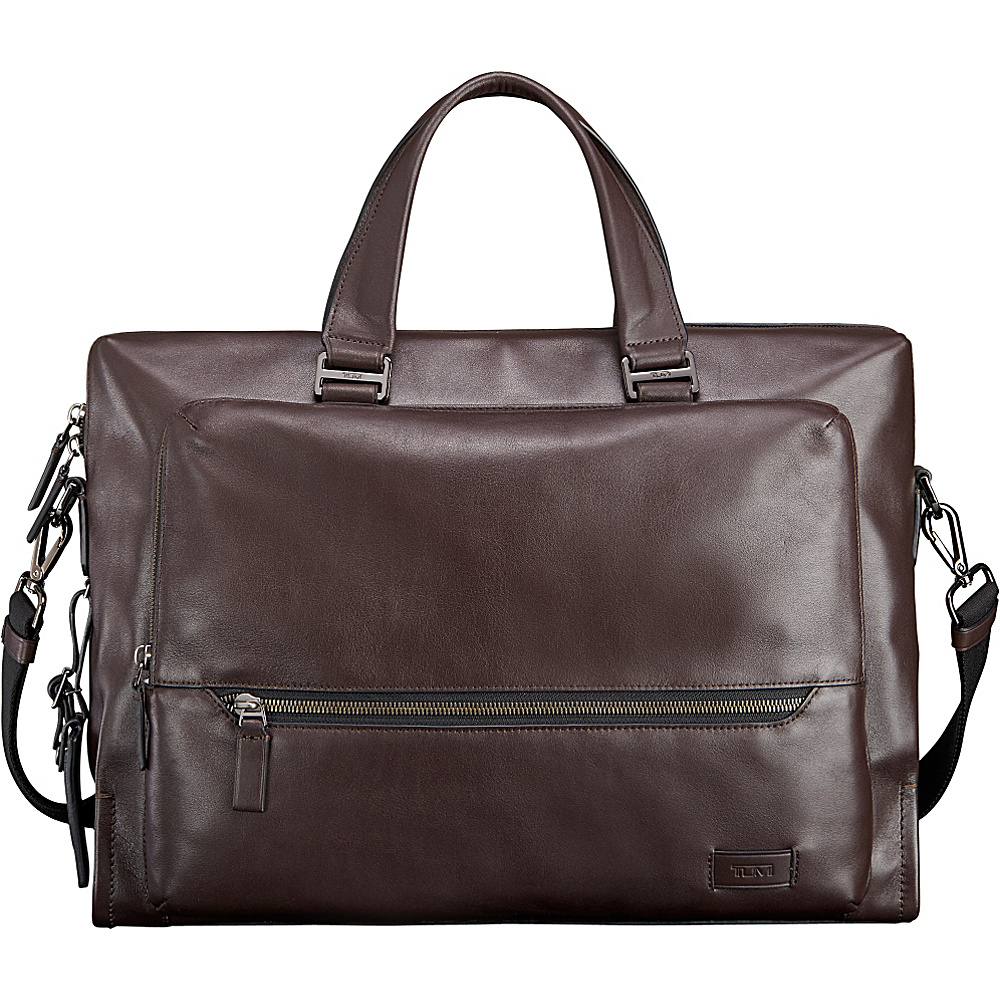 Tumi Harrison Madden Brief Brown - Tumi Non-Wheeled Business Cases - Work Bags & Briefcases, Non-Wheeled Business Cases