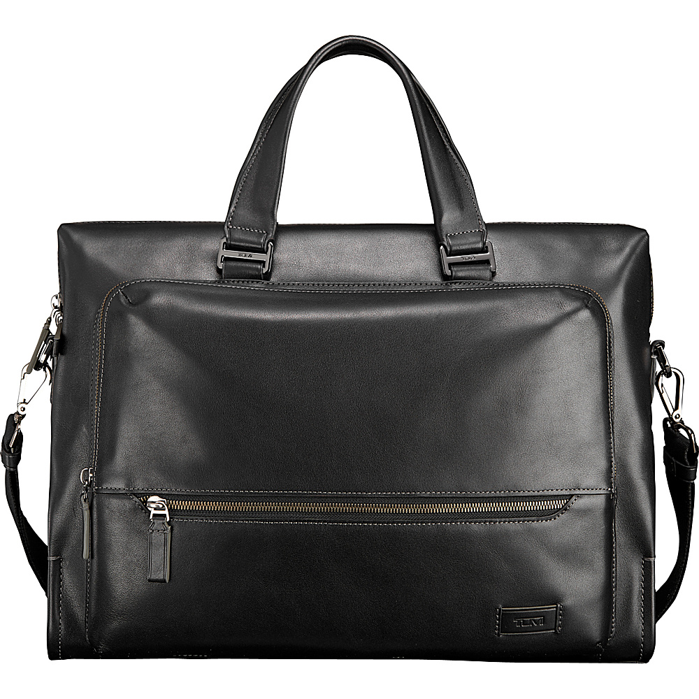 Tumi Harrison Madden Brief Black - Tumi Non-Wheeled Business Cases - Work Bags & Briefcases, Non-Wheeled Business Cases