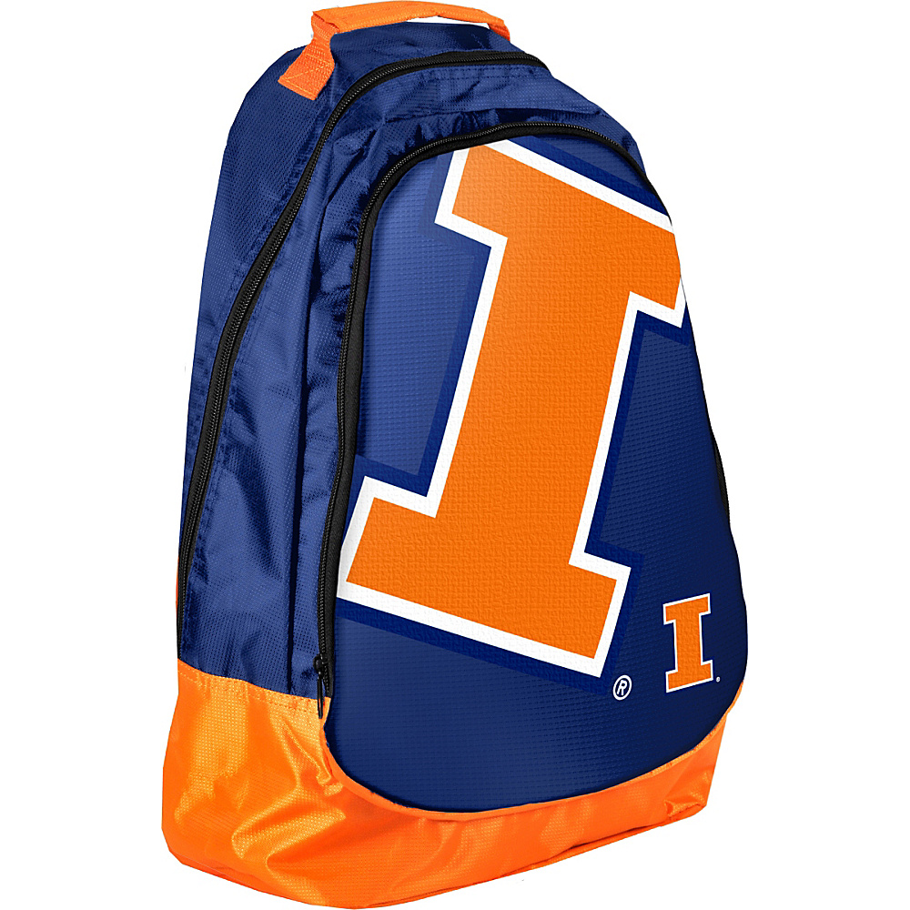 Forever Collectibles NCAA Forever Collectibles Core Structured Backpack University of Illinois Fighting Illini Orange Forever Collectibles Everyday Backpacks