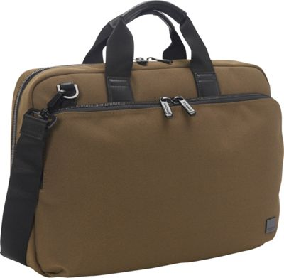 KNOMO London Maxwell Slim Brief Deep Army Green - KNOMO London Non-Wheeled Business Cases