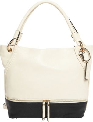 Hush Puppies Kira Hobo Beige/Black - Hush Puppies Manmade Handbags