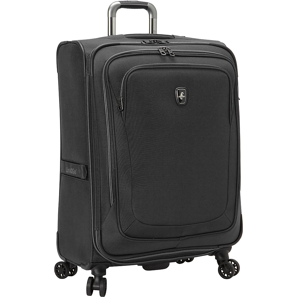 "Atlantic Unite 2 25"" Expandable Spinner Black - Atlantic Softside Checked"