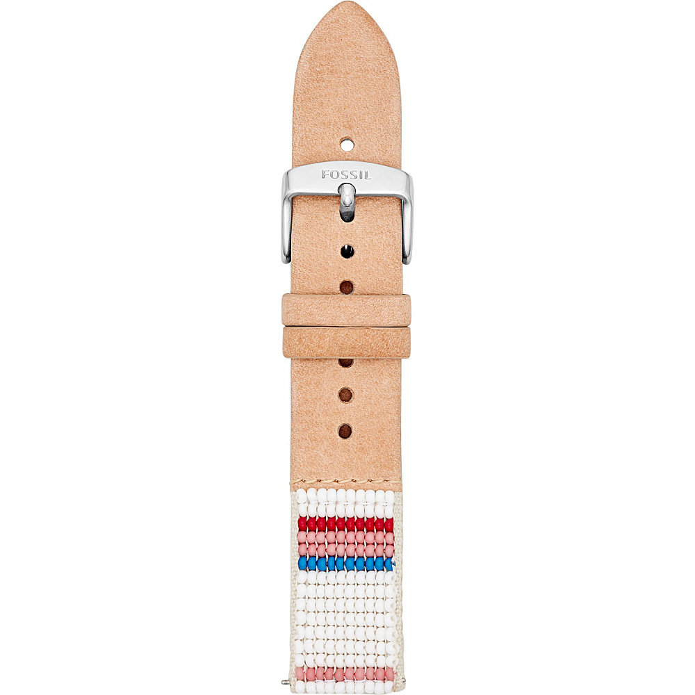 Fossil Fossil x Me to We Leather 18mm Watch Strap Brown - Fossil Watches - Fashion Accessories, Watches